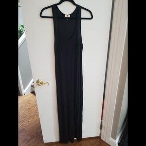Classic Black Maxi Dress with Pocket